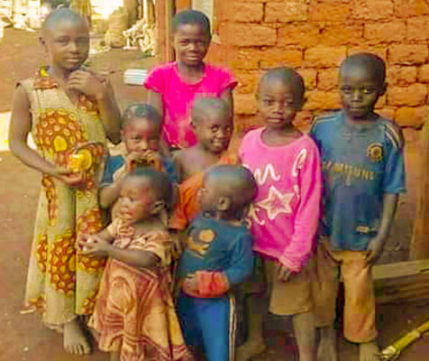 Eight of the 14 children massacred by Cameroonian forces in Ngarbuh, Ambazonia - Photo Atlantic Chronicles