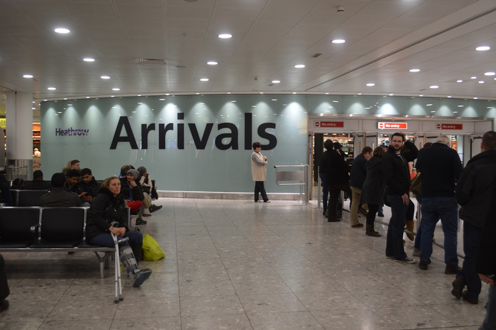 Arrivals Sign at London Heathrow - Photo Euro Weekly News