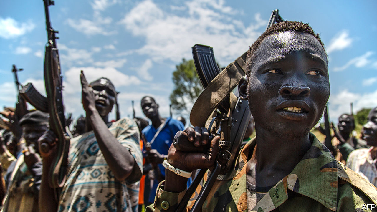 Pro-government forces near Maiwut, Upper Nile State, South Sudan