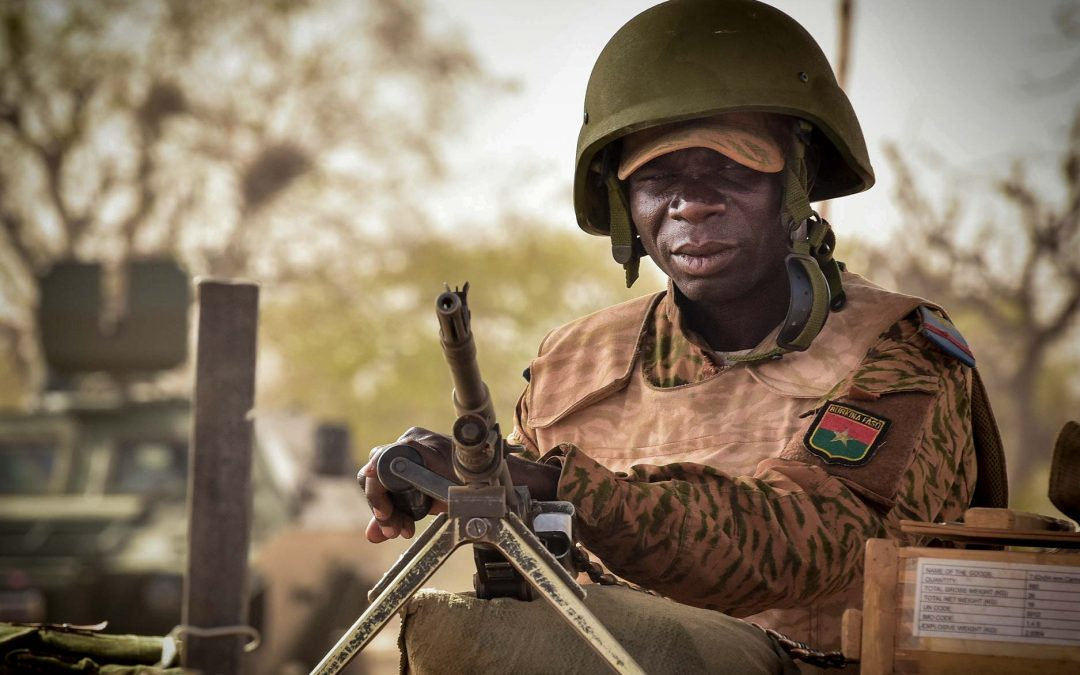 Burkinabe Soldier Stands Guard