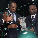 CAF ex-President Hayatou (Middle)