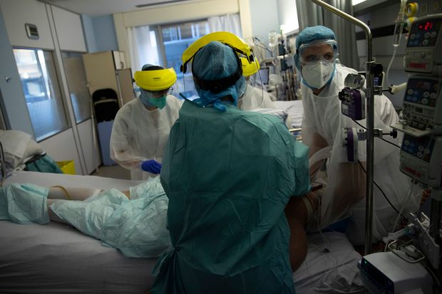 COVID Cases Rise in Africa - Photo Wall Street Journal