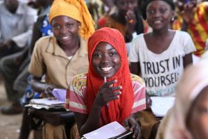 Chadian students in a classroom