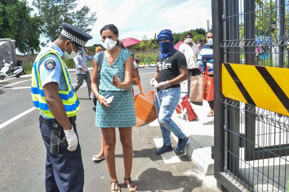 Enforcing COVID19 restrictions in Mauritius - The Conversation