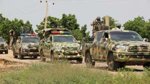 Convoy of Nigerian soldiers