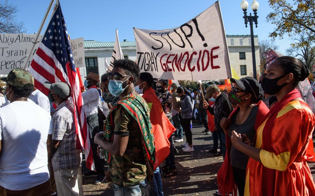 Decrying genocidal violence in Tigray from the USA