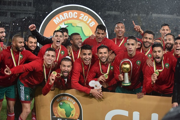 Defending Champions Morocco soon after winning the 2018 edition - Photo Jalal Morchidi/Anadolu Agency/Getty Images