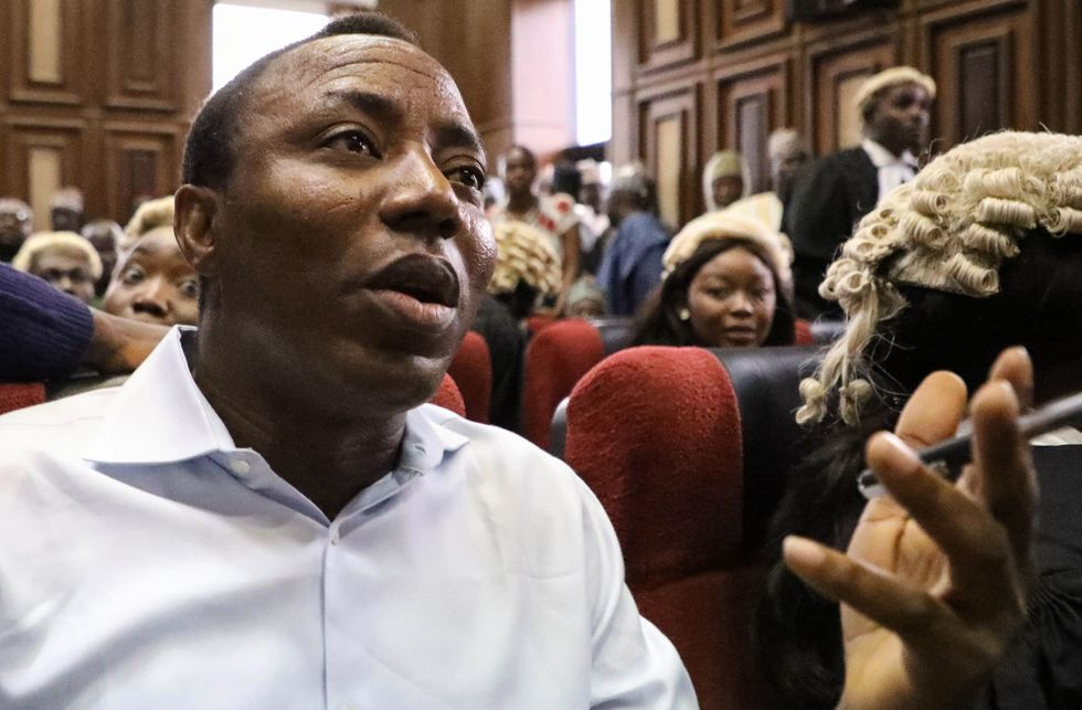 Sowore during his trial - Photo Okay Africa