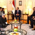 Egypt's President Sisi receiving 12 foreign ministers in 2018 - Photo Egypt Today