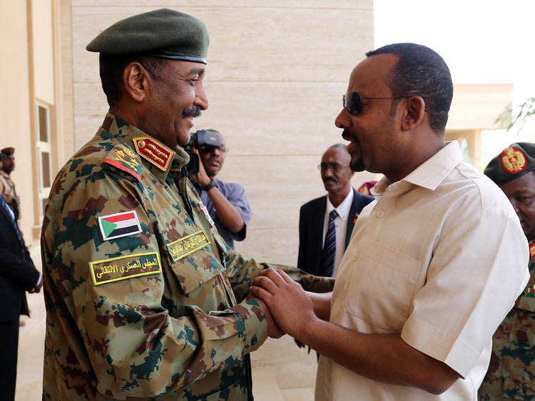 Ethiopia's PM Abiy visits with Sudan's Burhan in effort to ease tension - Photo Gulf News