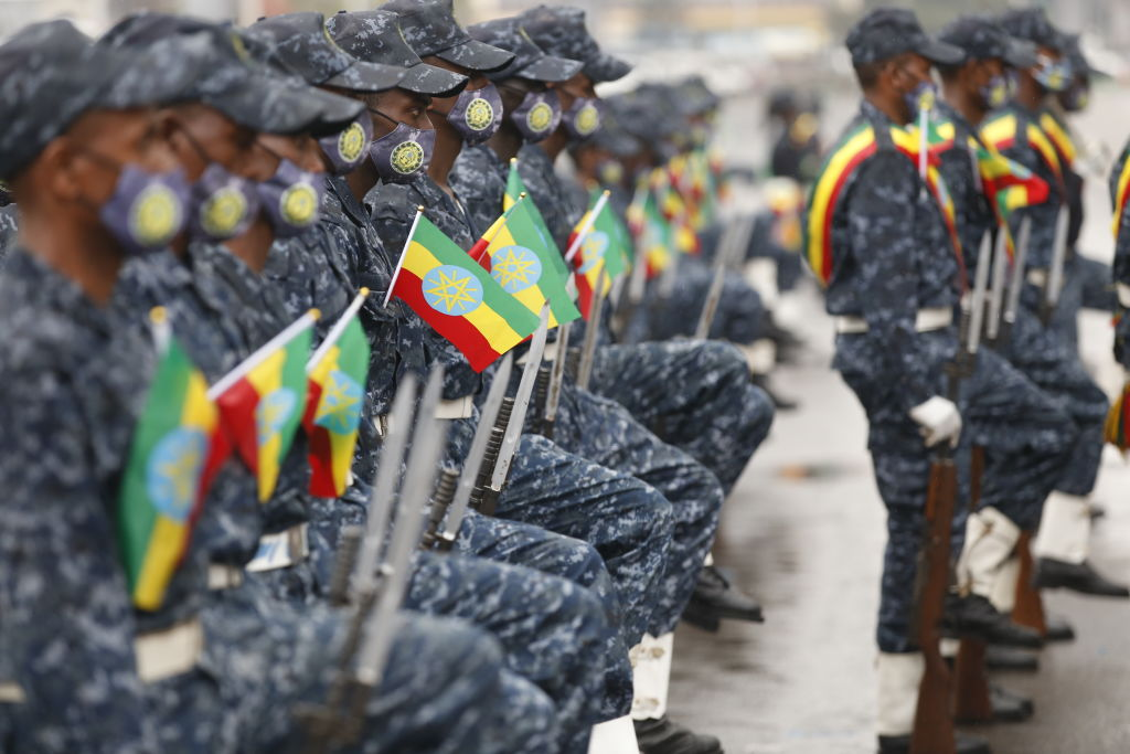 Parade of Ethiopian federal forces