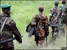 Fighters Marching Out To War in DR Congo