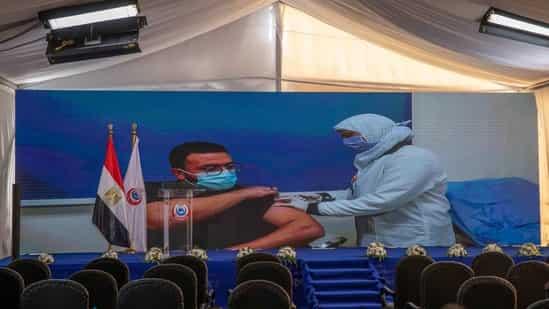 First Jabs in Arms in Egypt's COVID19 Innoculaton - Photo Hindustan Times