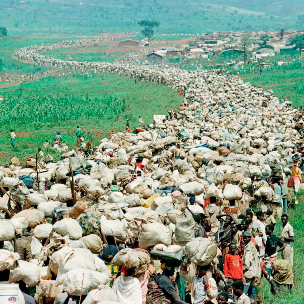 Rivers of Human Beings Fled the Rwanda Genocide on Foot