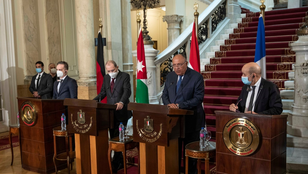 French, German, Jordanian and Egyptian Foreign Ministers on Reviving the Middle East Pease Process - Photo CTV News