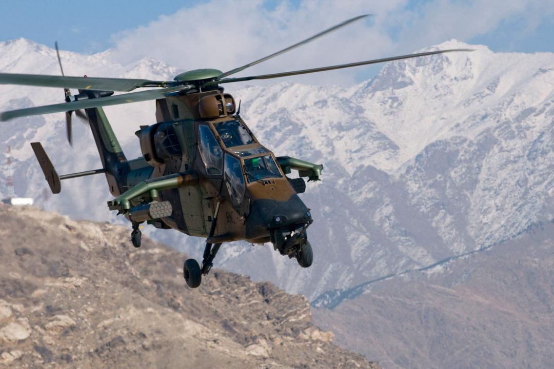 French Army AH Tigre helicopter in Afghanistan