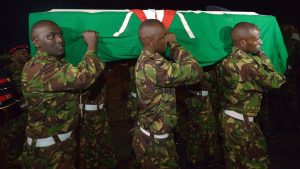 Funeral for Kenyan Soldier Killed in al-Shabab Attack in Somalia