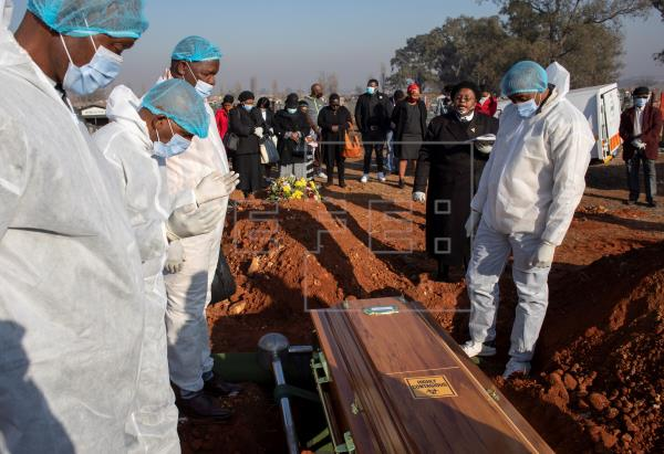 Funeral for South African COVID-19 Victims