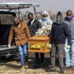 Funeral for covid19 victim in South Africa - Photo Pittsburgh Post Gazette