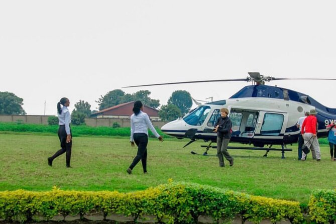 Helicopter on the ground at Bujumbura Airport