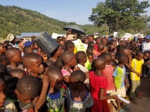 Southern Cameroonian refugee children in Nigeria