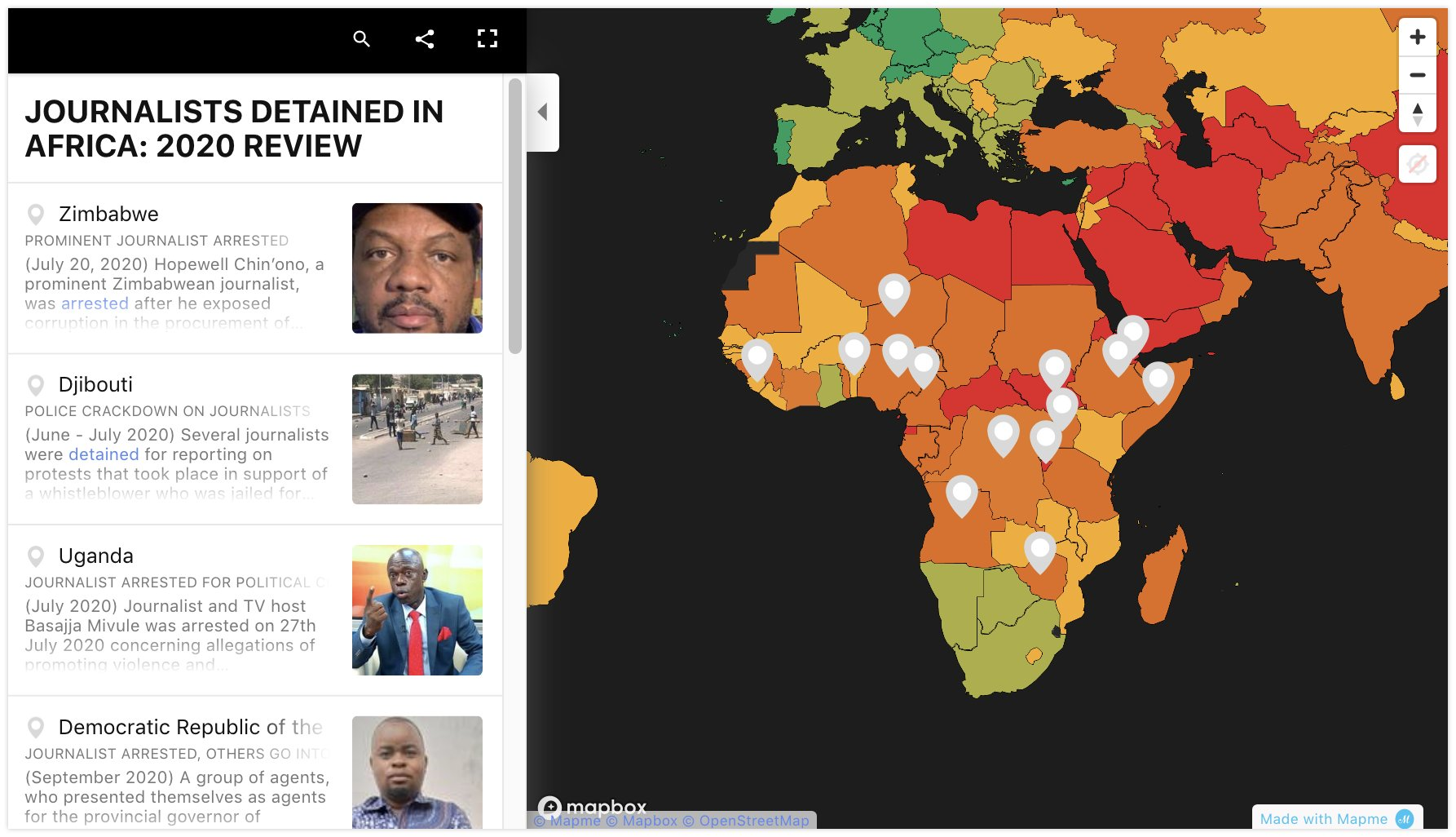 Africa: Fifty Journalists Killed in 2020