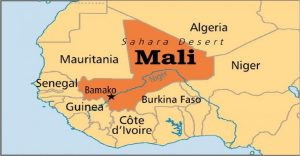 Location of Mali in the Sahel Region of Africa