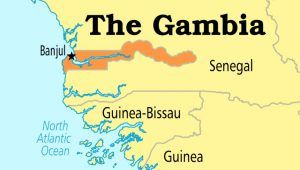 Locating The Gambia - Source CGTN