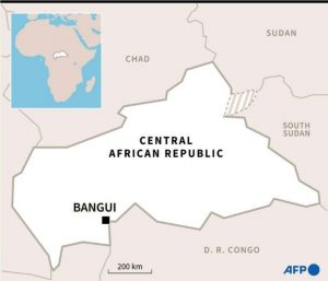 Locating the Central African Republic
