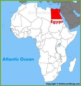 Location of Egypt on African Map