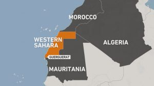 Locaton of Western Sahara