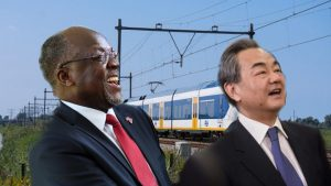 John Magufuli and Wang Yi