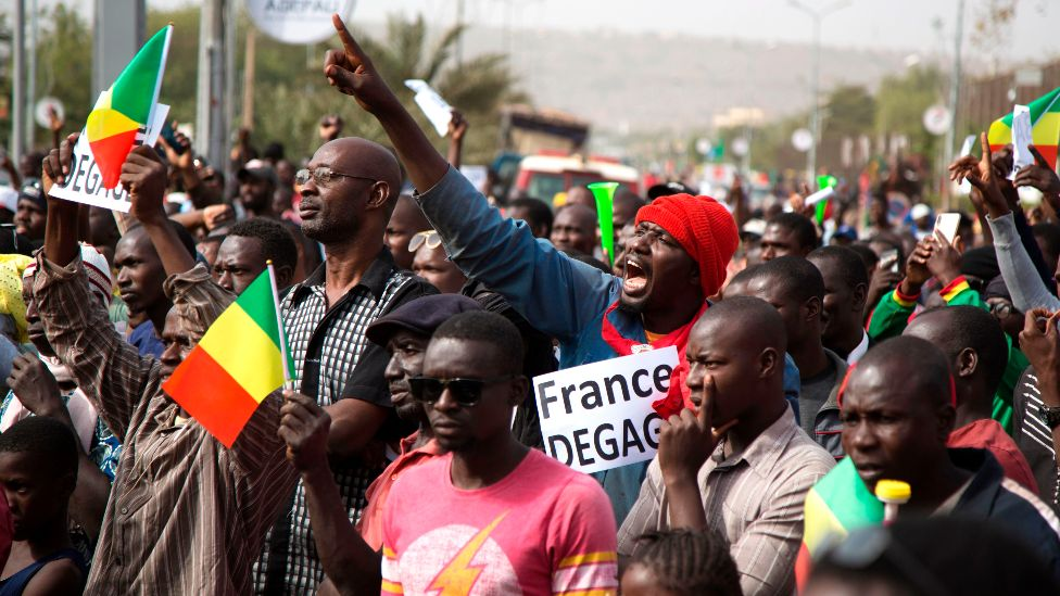 Malians call on French troops to leave - Photo BBC.com