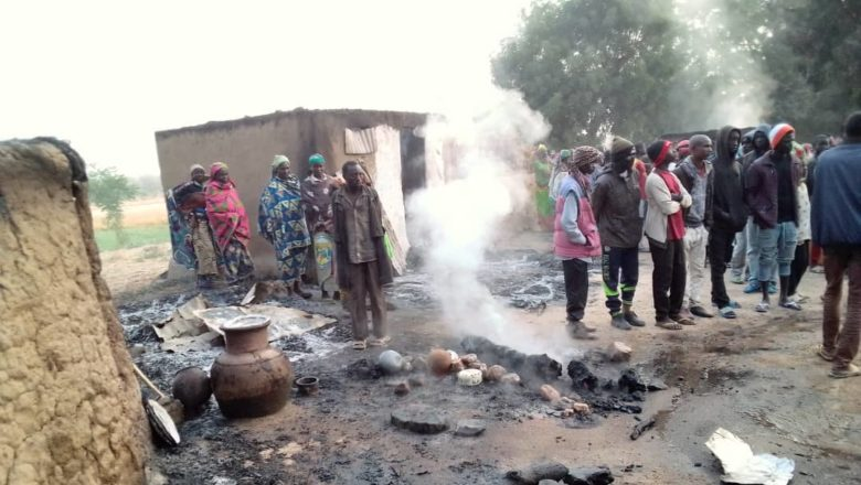 Aftermath of suicide bomb attack in Mozogo, Far North Cameroon