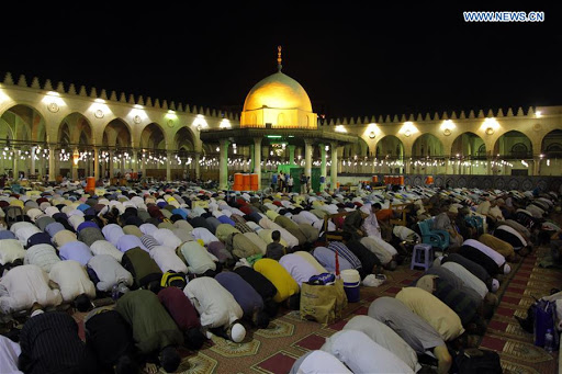 Muslims Praying in Egypt