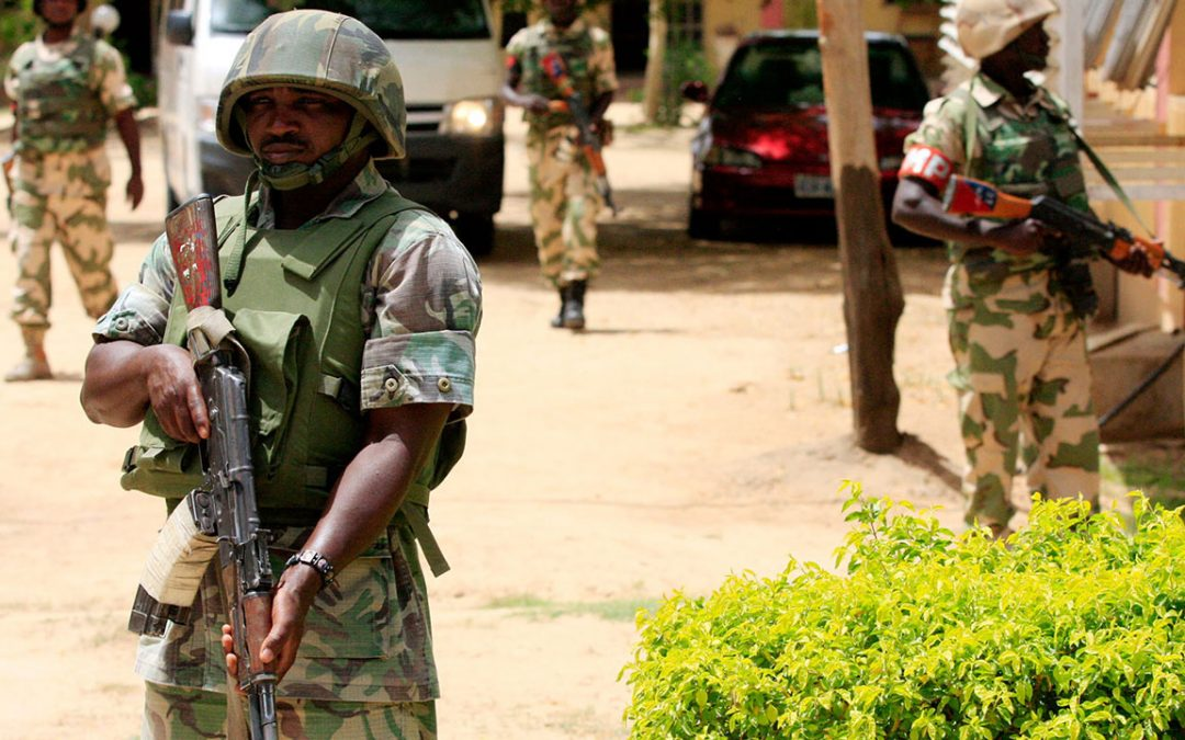 Nigerian soldiers retake camp - Photo The Guardian Nigeria News