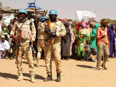 Peacekeepers in Western Darfur - Photo Naharnet