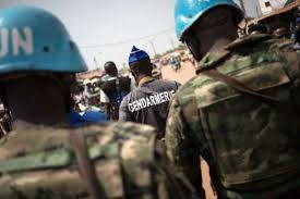 Peacekeepers worked together with government forces to repel rebel attacks