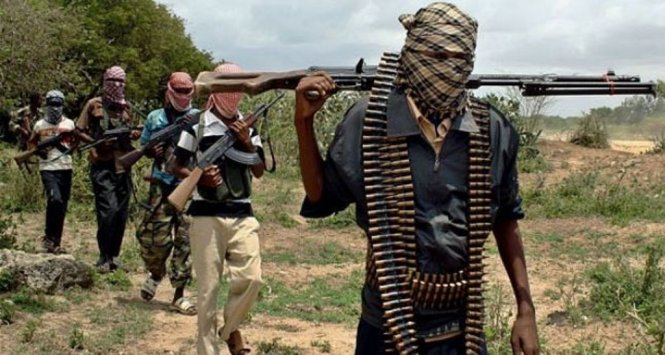 Masked Boko Haram insurgents allegedly surrendering in Far North Cameroon