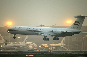 Sudanese presidential plane comes in to land
