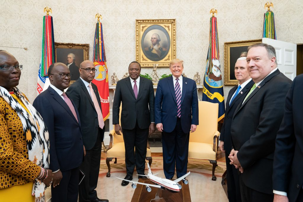 Presidents Trump, Kenyatta and teams - Photo US Embassy Kenya