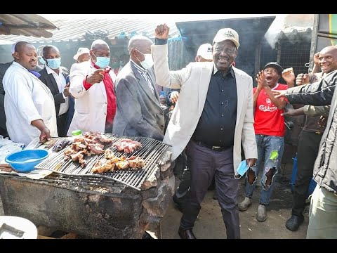 "Raila Odinga on a ""meat"" the people tour"