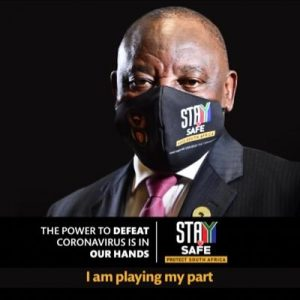 Ramaphosa masked up in picture posted on Twitter