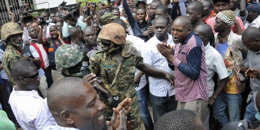Security Forces Breaking up a Bobi Wine Rally