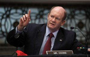 Sen. Chris Coons - Photo by Carolyn Kaster-Pool/Getty Images