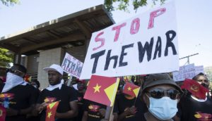 Protest in South Africa against the war in Tigray - Photo AP/Themba Hadebe