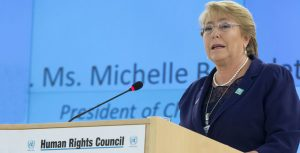 UN Human Rights High Commissioner Michelle Bachelet