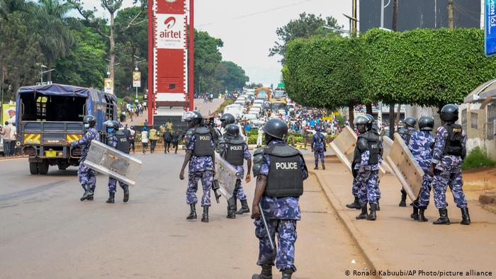 Heavy security on the streets of Kampala as Ugandans vote