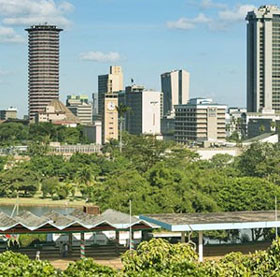 View of the City of Nairobi