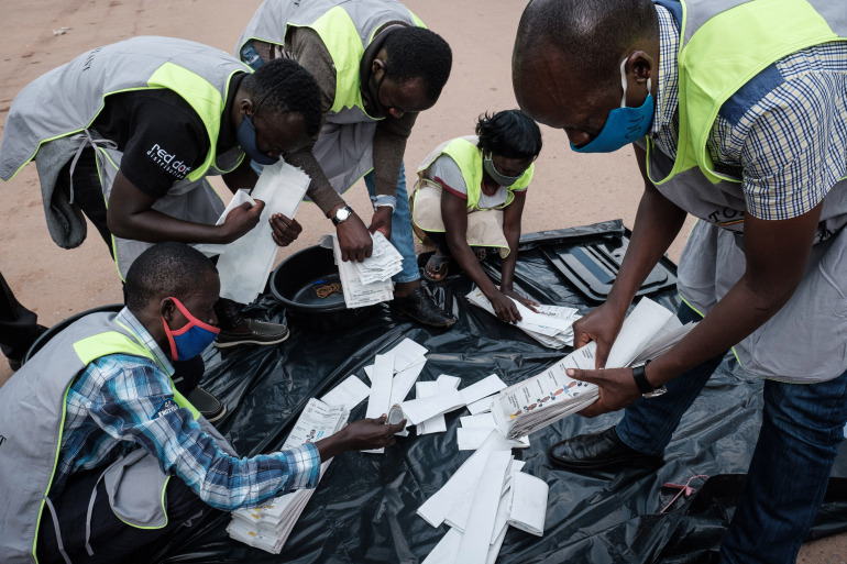 Ugandans are counting votes